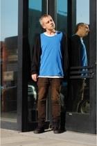 acne t-shirt - acne t-shirt - Zara sweater - Helmut Lang jeans - Vans shoes