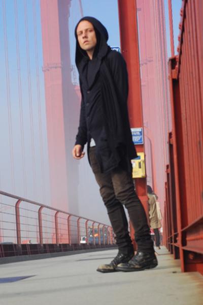 Endovanera sweater - Nom D scarf - Fruit of the Loom top - Helmut Lang jeans - u