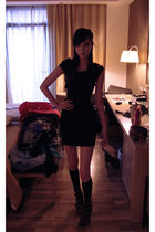 black Alexander Wang dress - black M&S socks - brown Topshop shoes