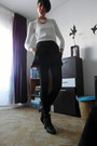 Black-ankle-boots-h-m-boots-white-zara-sweater-black-zara-tights