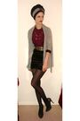 Gray-topshop-cardigan-black-topshop-skirt-silver-ravel-shoes-red-oasis-blo