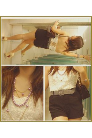 white X Dresses top - purple Gucci accessories - purple random from japan neckla