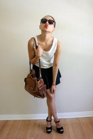 nylon Forever 21 skirt - plastic H&M Trend sunglasses - suede Steve Madden pumps