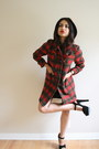 Ruby-red-toggle-buttons-vintage-plaid-coat-coat