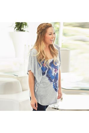 gray LC Lauren Conrad shirt - black LC Lauren Conrad leggings