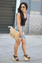 Moschino belt - Sophie Hulme bag - H&M shorts - asos wedges