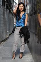 Zara top - Rebecca Minkoff bag - Mango pants