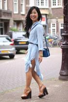 Zara dress - Miu Miu bag - asos belt - Topshop heels