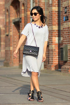 Steve Madden sandals - Alexander Wang dress - Chanel bag - zeroUV sunglasses