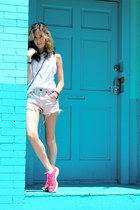 hot pink nike sneakers - white t-shirt Isabel Marant shirt