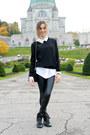 Black-wool-uniqlo-sweater-black-faux-leather-zara-leggings