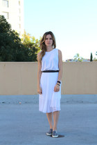 white muscle tee Isabel Marant t-shirt - white below the knee Topshop skirt