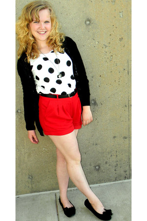 crimson sequins Forever 21 sweater - red crop top Forever 21 shorts