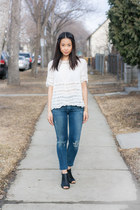 wilfred top - Steve Madden shoes - Citizen of humanity jeans