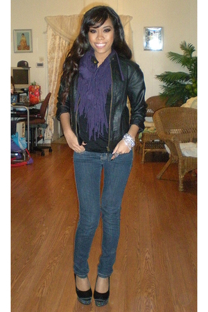 black silence and noise jacket - purple Forever 21 scarf
