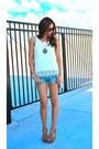 Crochet-h-m-shirt-denim-american-eagle-shorts