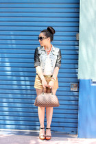 Forever21 shorts - Zara jacket - SoleSociety heels