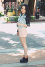 Light-pink-forever-21-shorts-black-jeffrey-campbell-boots