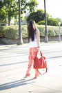 Red-chaser-brand-pants-michael-stars-dress-v-couture-by-kooba-bag