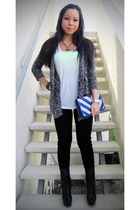 Forever21 sweater - fiona vera wang lavender label boots