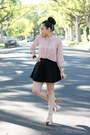 Light-pink-forever-21-blouse-black-american-apparel-skirt
