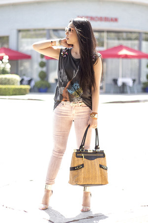 Rich & Skinny jeans - Olivia  Joy bag - Celine Paris sunglasses