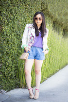 This Is A Love Song jacket - shoplately bag - denim chambray Zara shorts