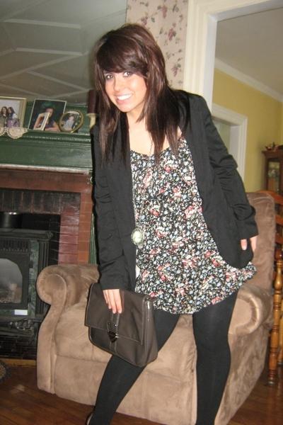 Target blazer - Target dress - purse
