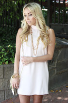 light pink blush pink Forever 21 dress - beige nude Forever 21 heels