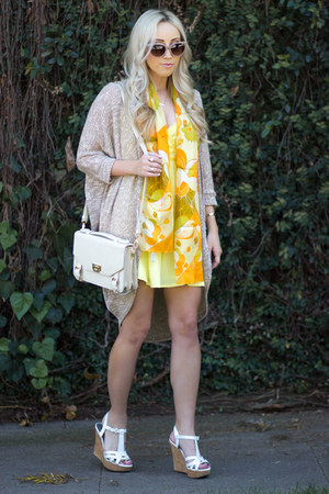 light yellow short Forever 21 dress