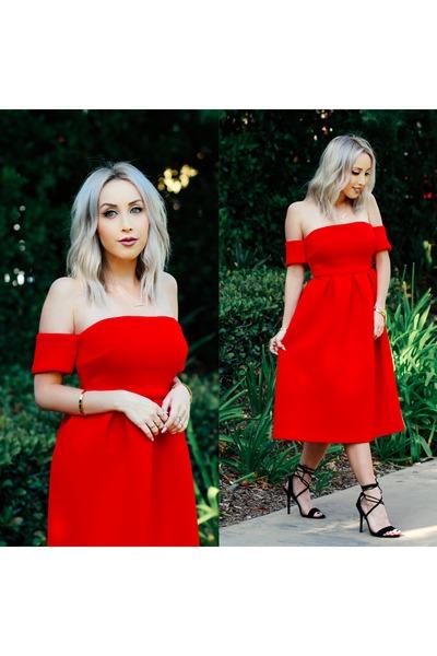red midi Make Me Chic dress