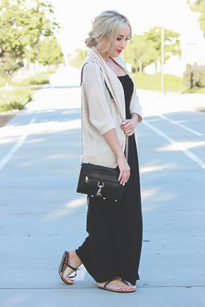 black sandals Michael Kors shoes - black maxi dress Target dress