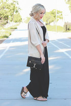 black sandals Michael Kors shoes - black maxi dress Target dress