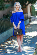 blue flowy Sheinside dress