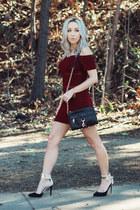 crimson bodycon Sheinside dress