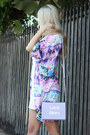 White-strapless-forever-21-dress-periwinkle-kimono-cotton-on-cardigan