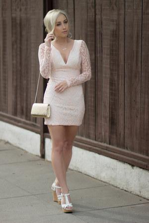 light pink lace Pink Basis dress