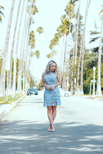 sky blue lace Make Me Chic dress