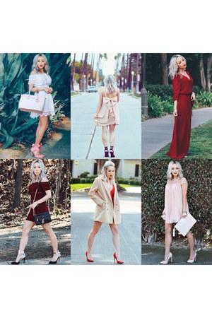 ruby red chiffon Sheinside dress