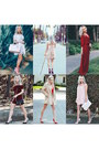 Ruby-red-chiffon-sheinside-dress