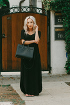 black maxi dress shein dress