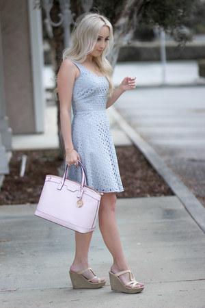 sky blue eyelet dress Loft dress