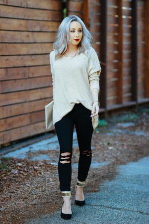 black skinny jeans Just Black jeans