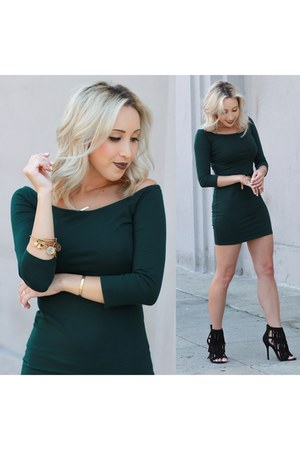 dark green bodycon Forever 21 dress