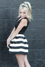 White-striped-foreign-exchange-skirt-black-crop-top-foreign-exchange-top