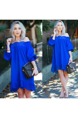 blue shein dress