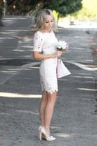 light pink embroidered Forever 21 dress