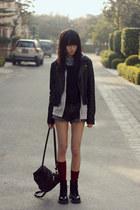 Dr Martens boots - H&M sweater - H&M shirt - Monki socks