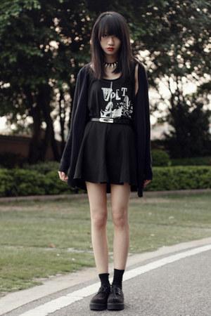 H&M cardigan - Uniqlo t-shirt - H&M flats