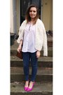Navy-topshop-jeans-white-h-m-shirt-ivory-h-m-cardigan